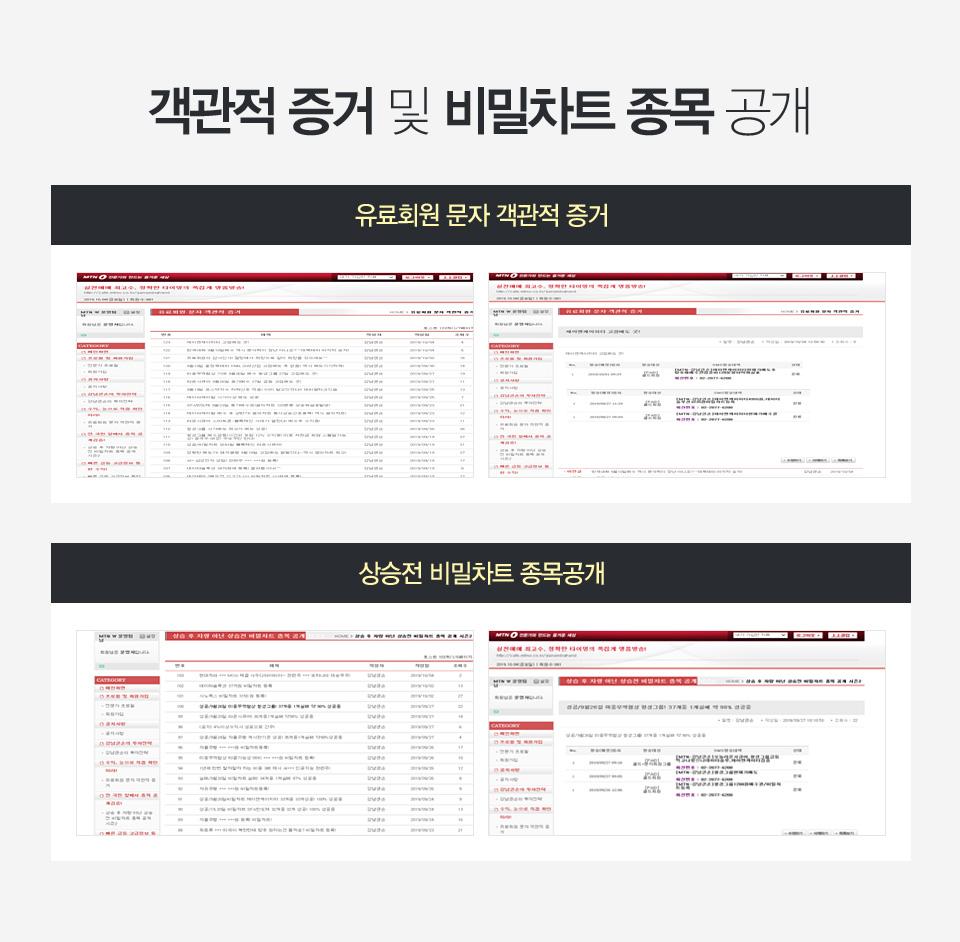 유료회원 문자 객관적 증거, 상승전 비밀차트 종목 공개