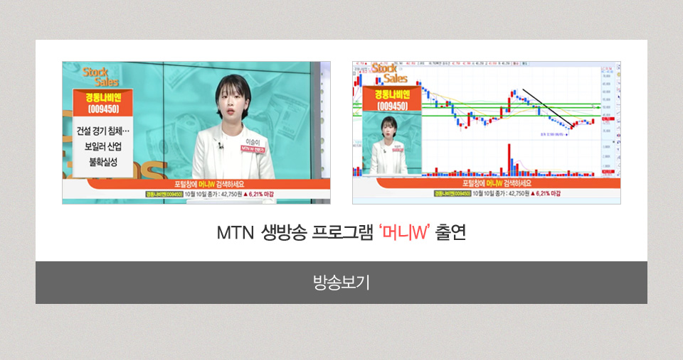 MTN 생방송 프로그램 머니W 출연