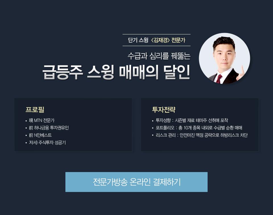 김재경대표 - 수급과 심리를 꿰뚫는 급등주 스윙 매매의 달인